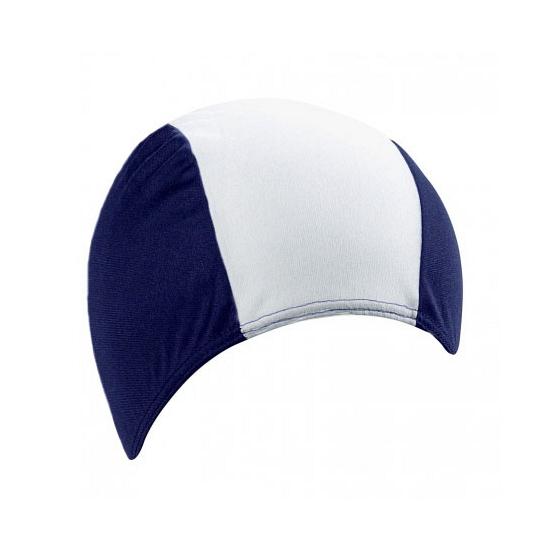 Polyester badmuts navy/wit voor volwassenen