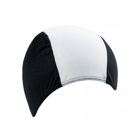Polyester badmuts zwart/wit voor volwassenen