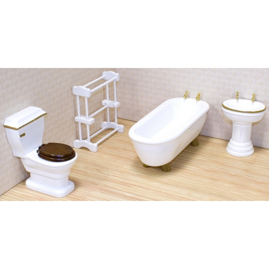 Poppenhuis badkamer meubel set