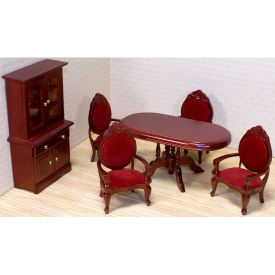 Poppenhuis eetkamer meubel set
