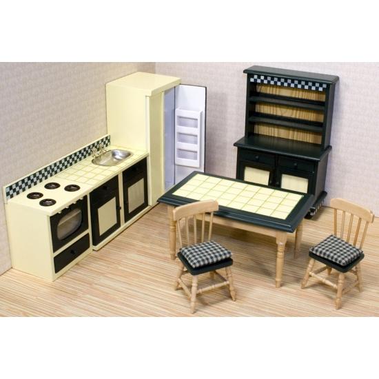 Poppenhuis keuken meubel set