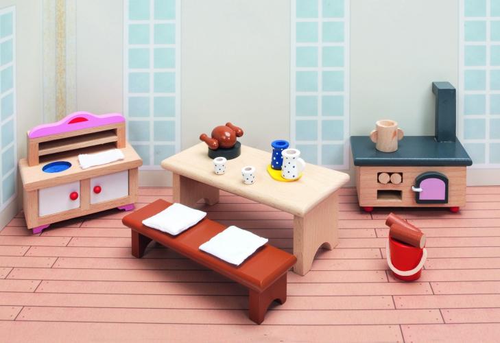 Poppenhuis keuken meubels Kasteel