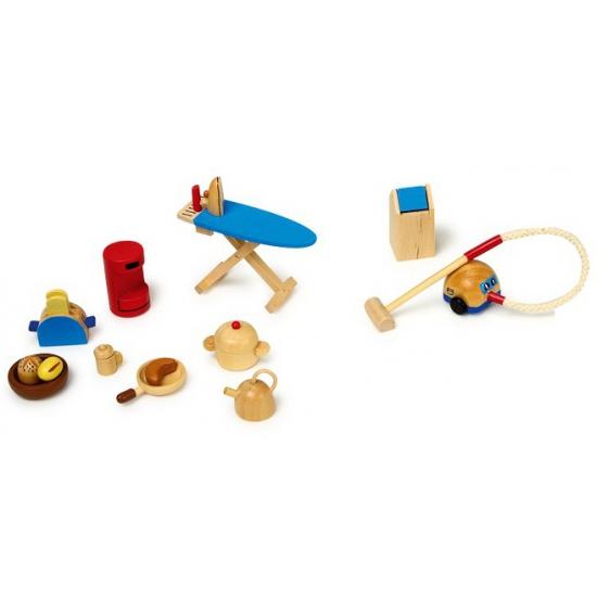 Poppenhuis speelgoed setje mini