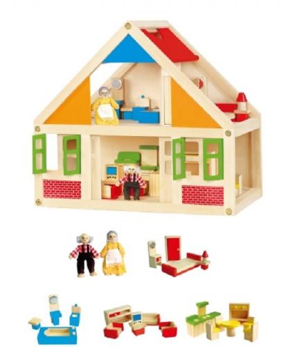 Poppenhuis van hout