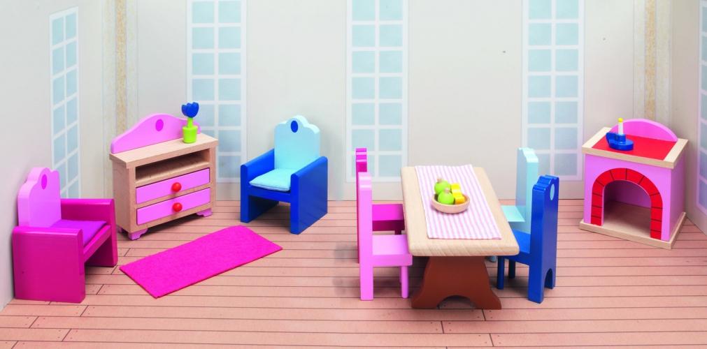 Poppenhuis woonkamer meubels Kasteel