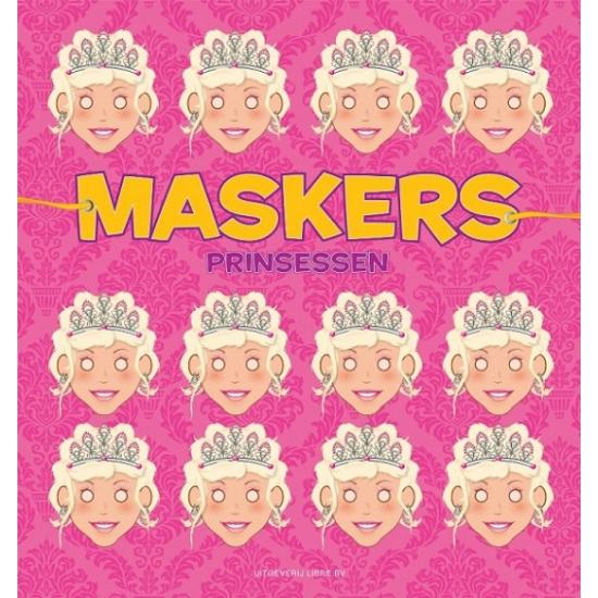Prinses kleurmaskers 10 stuks