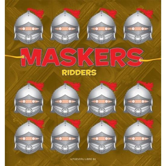 Ridder maskers om te knutselen 10 stuks