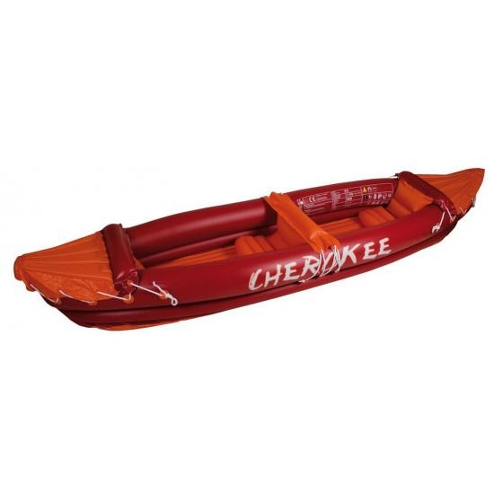 Rode opblaasbare kano