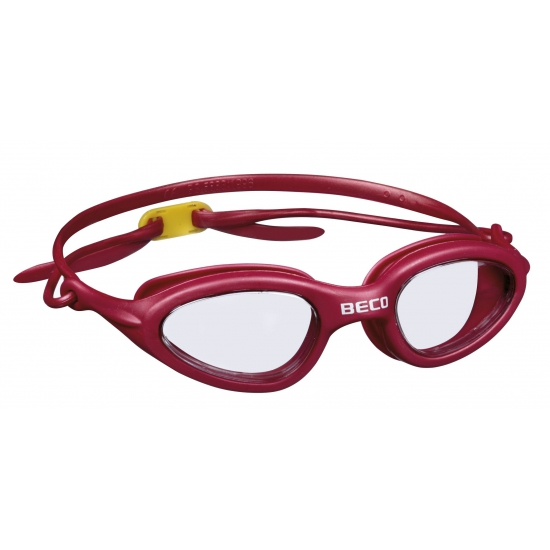 Rode PVC zwembril met UV bescherming