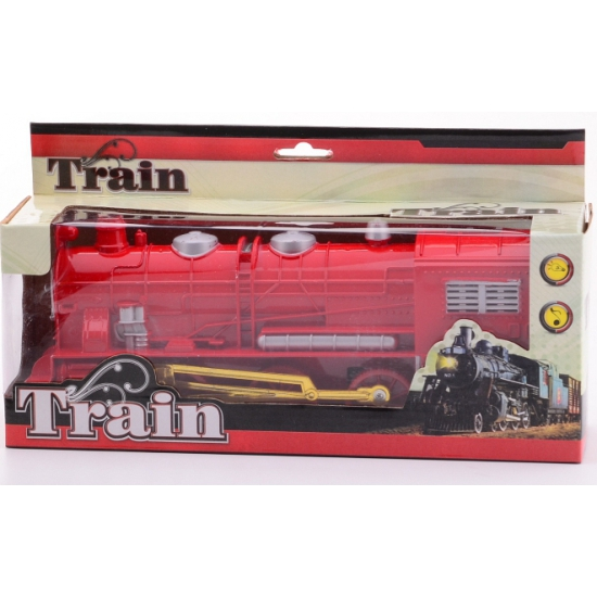 Rode trein met licht en geluid