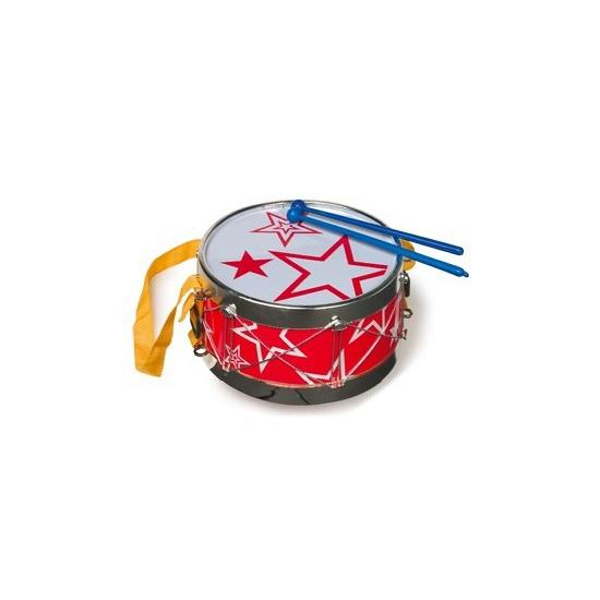 Rode trommel voor kinderen 19 cm
