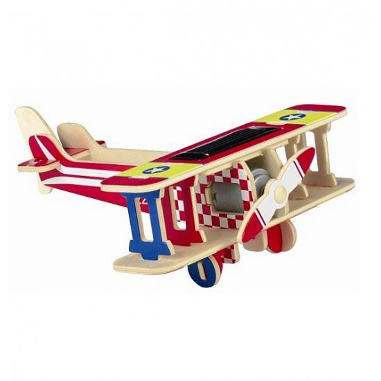Rode vliegtuig 3D puzzel