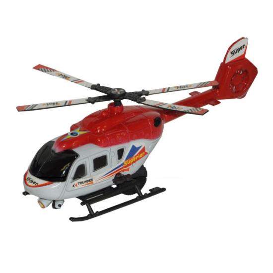 Rood met witte wentelwiek helikopter 21 cm