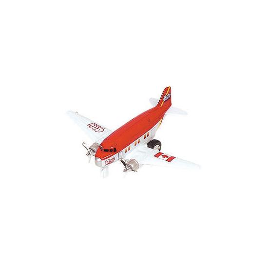 Rood vliegtuig met terugtrekmotor