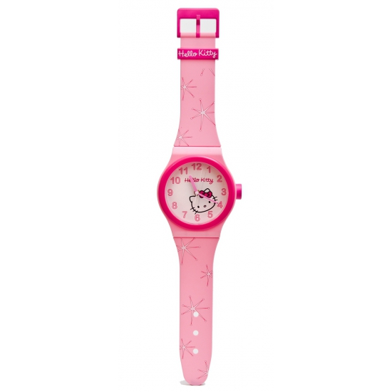 Roze Hello Kitty wand horloge