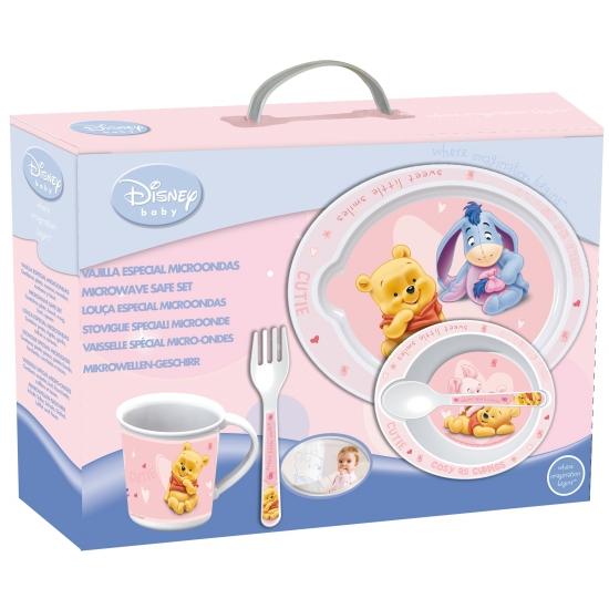 Roze kinder servies van Winnie de Pooh