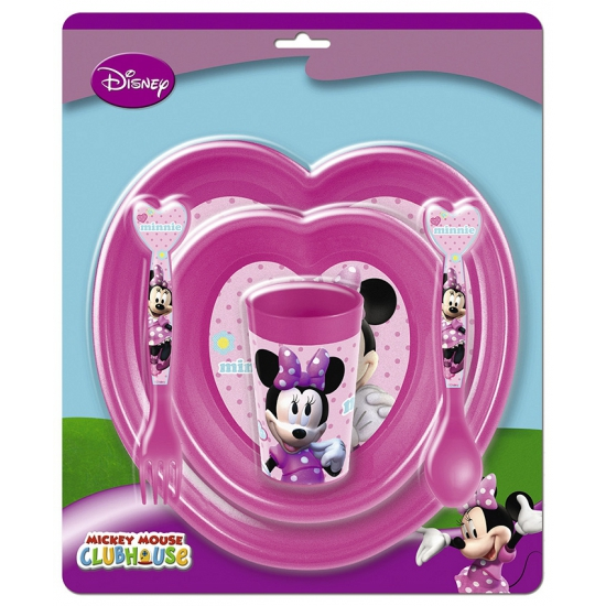 Roze Minnie Mouse servies