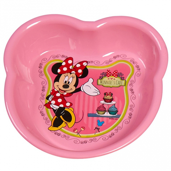 Roze Minnie Mouse thema schaal 16 cm