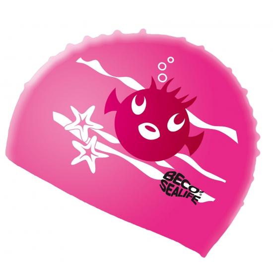 Roze siliconen badmuts voor kids