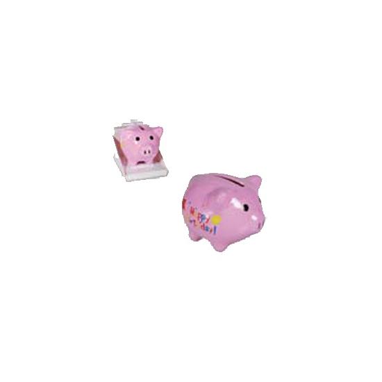 Roze spaarvarkentje 4 cm