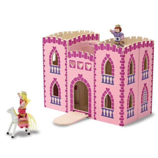 Roze speegoed kasteel van hout