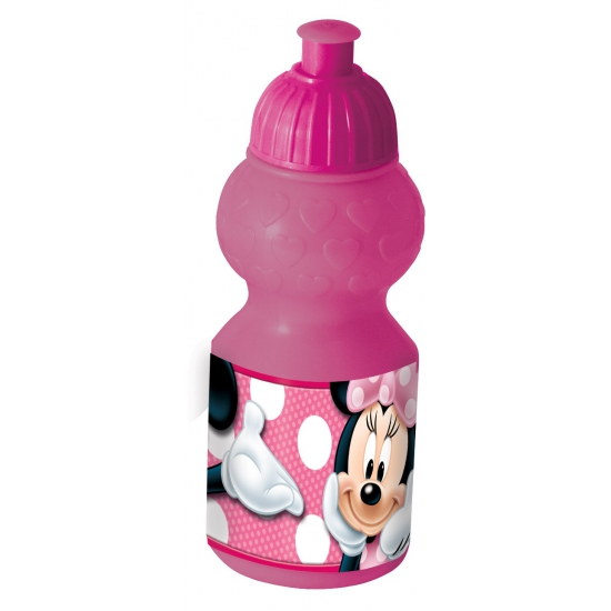 Roze sportfles Minnie Mouse