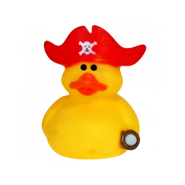 Rubberen kapiteinen badeendje met rode muts