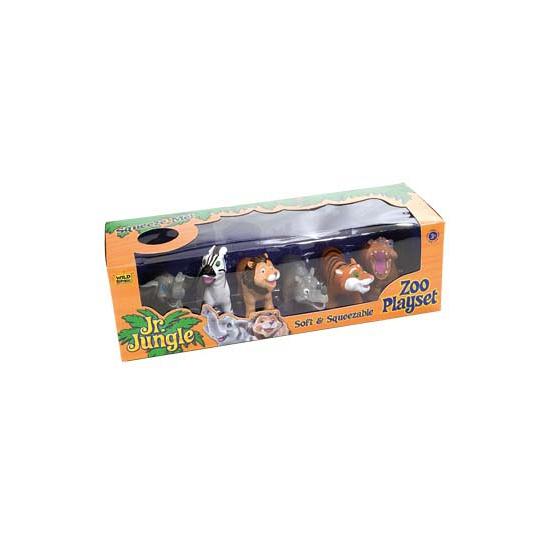 Safari knijpdiertjes 6 stuks