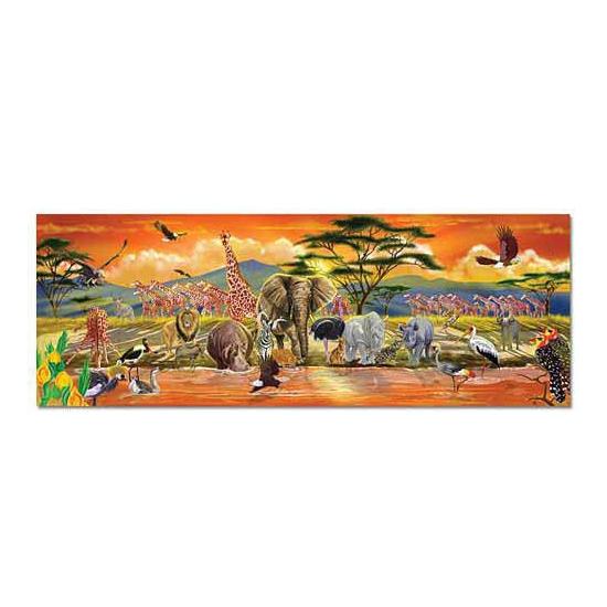Safari puzzel met 100 stukjes