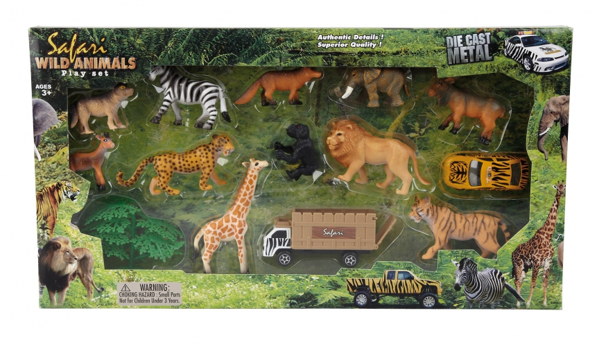 Safari speelset 14 stuks