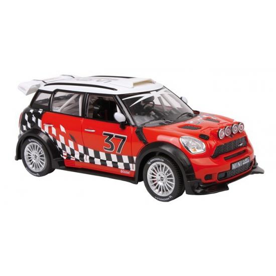 Schaalmodel Mini Cooper WRC rood