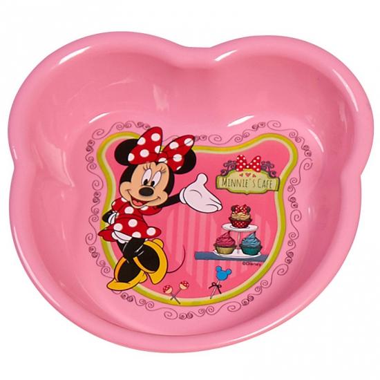 Schaaltje roze met plaatjes van Minnie Mouse 16 cm