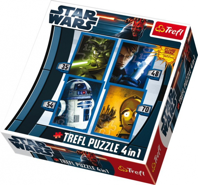 Set met 4 Star Wars the Clone Wars puzzels