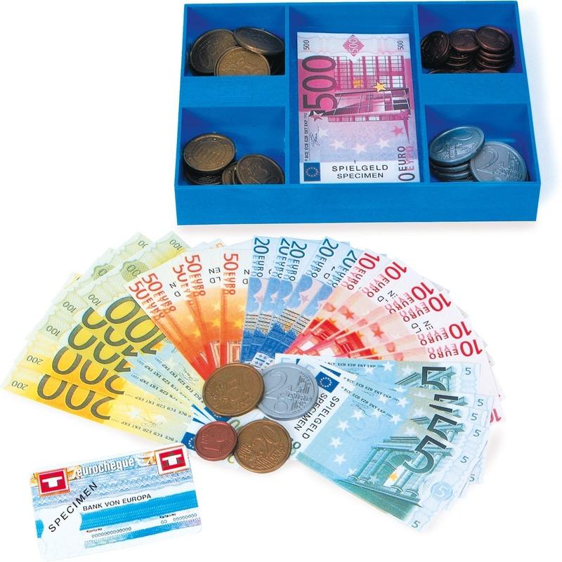Set met speelgoed briefgeld en munten
