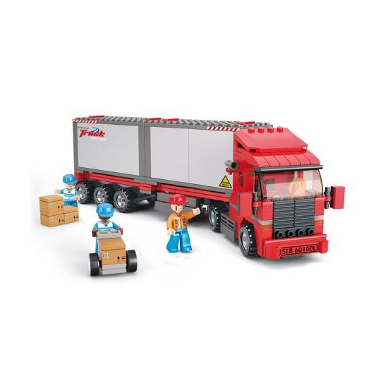 Sluban containter truck bouwblokjes