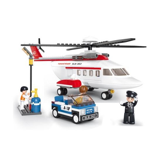 Sluban helikopter bouwblokjes