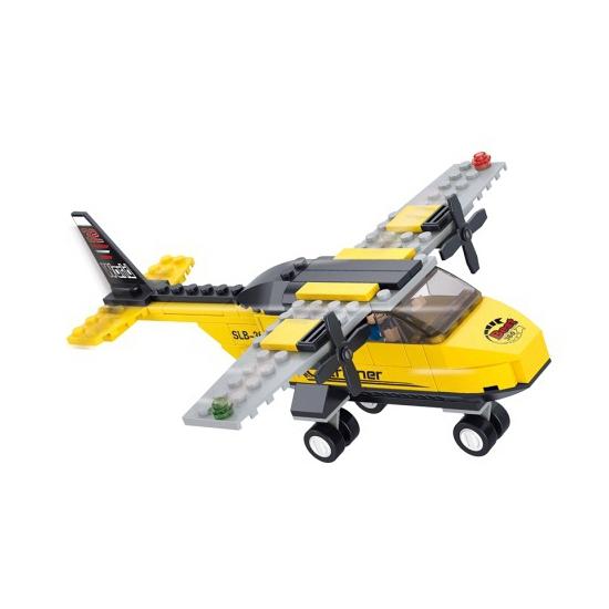 Sluban lesvliegtuig bouwblokjes