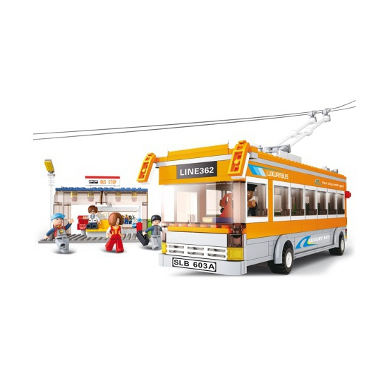 Sluban lijnbus met 5 poppetjes