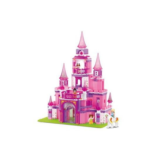 Sluban prinsessen kasteel roze