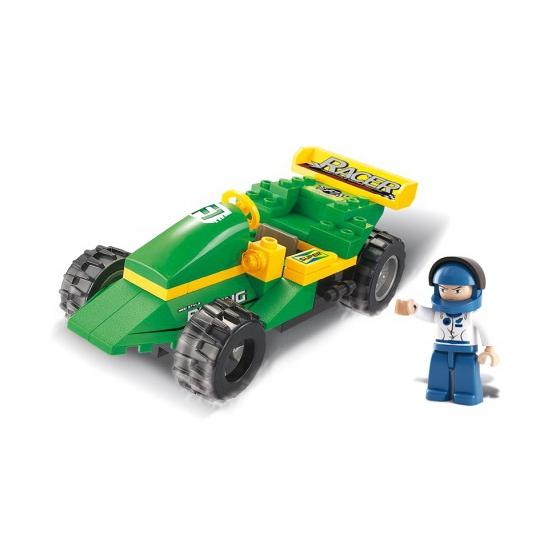 Sluban race auto met poppetje