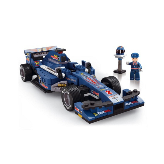 Sluban racewagens blauw