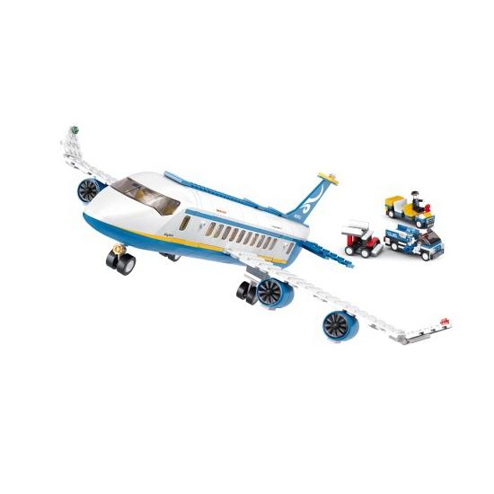 Sluban vliegtuig bouwblokjes