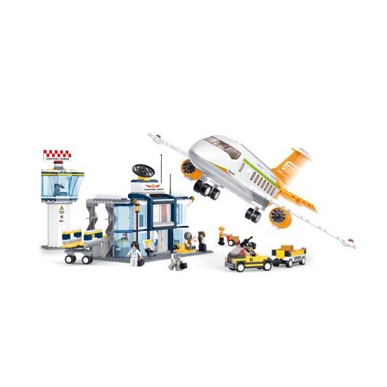 Sluban vliegveld en vliegtuig