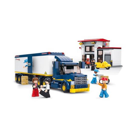 Sluban vrachtwagen met poppetje