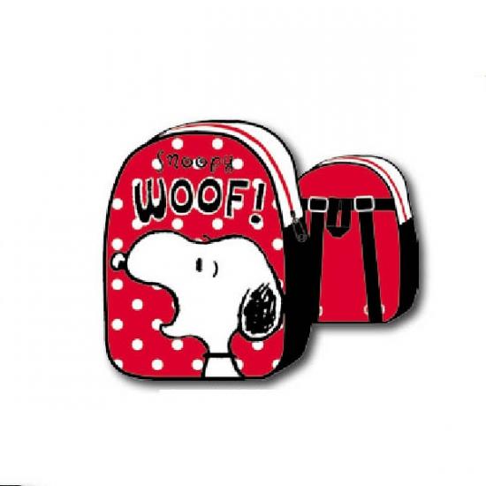 Snoopy rugtas witte stipjes