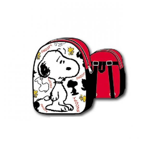 Snoopy rugzak wit zwart rood