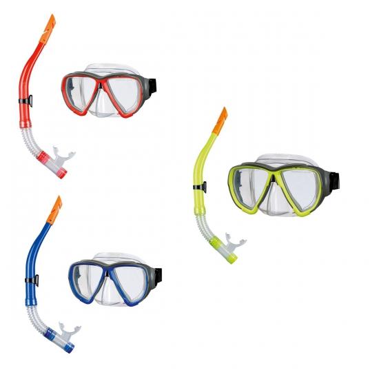 Snorkel en duikbril met gehard glas