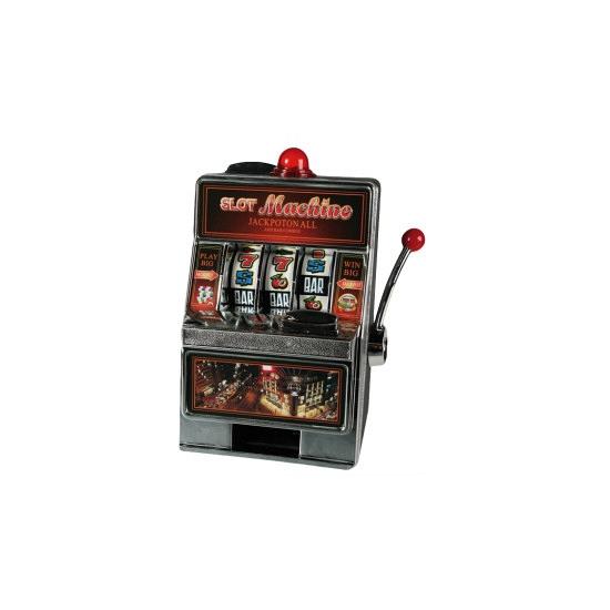 Spaarpot en speelautomaat in 1