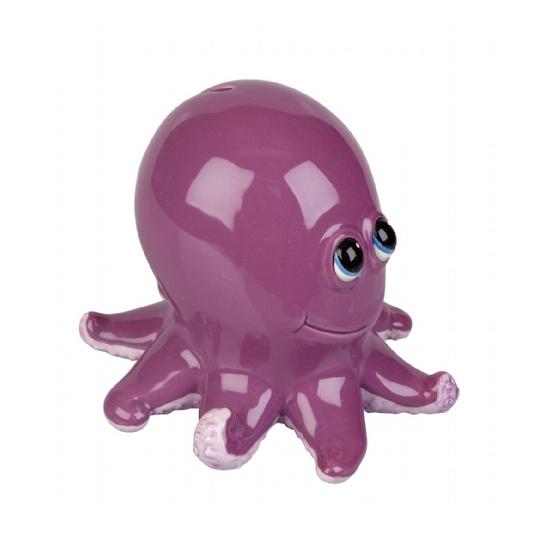 Spaarpot paarse octopus 15 cm