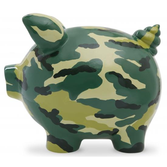 Spaarpot spaarvaken Camouflage Print 20 cm